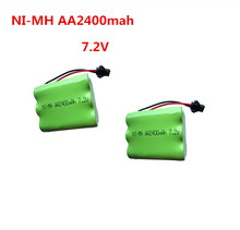 2pc 7.2v battery 2400mah ni-mh bateria 7.2v nimh battery pilas recargables 7.2v pack aa size ni mh for rc car toy electric tools(China)
