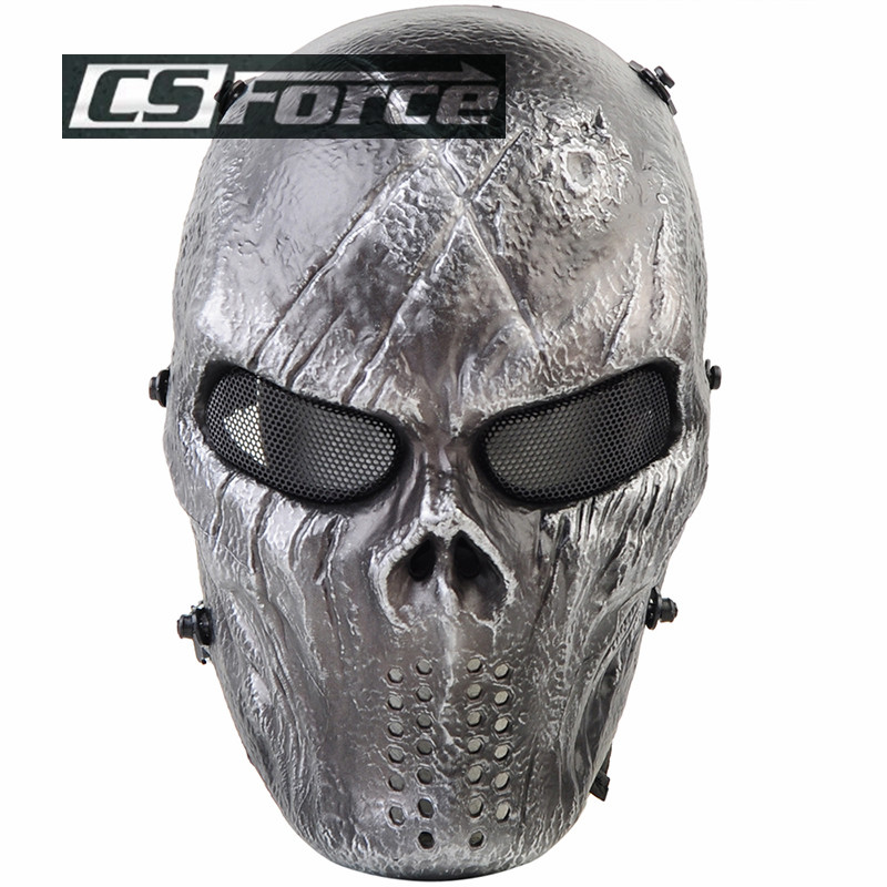 Original Iron Ghost Camouflage Tactical Outdoor Military Game Paintball Balaclava Airsoft Skull Full Face Protect Mask for Man<br><br>Aliexpress