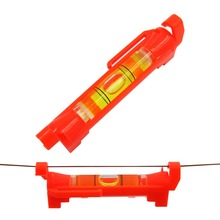 (50 pieces/Lot) Bubble Level with Plastic Shell Red Color level measurement instrument Moving on Line