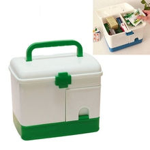 Urijk Large Family Home Medicine Chest Cabinet Health Care Plastic Drug First Aid Kit Box Storage Box Chest of Drawers