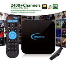 Professional IPTV 1G+8G TV Box Intelligent Coding 2400+ Live Channels Network Android OS 6.0 Set Top TV Box with Remote Control(China)