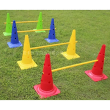 52cm Soccer cone training road sign cones speed roadblock exerciser barrier Football training equipment(China)
