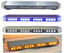 United Safe free shipping ESM3525 low profile GEN III 1 Watt super bright LED Warning Lightbar(amber/blue/red/white)