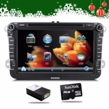 Wholesale! 2 Din 8 Inch Car DVD Stereo Player For VW/Volkswagen/Passat/POLO/GOLF/Skoda/Seat With 3G USB GPS BT FM RDS Free Maps(China)