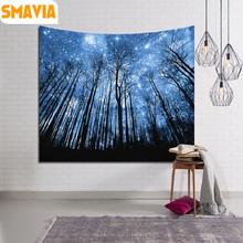 SMAVIA Starry Sky Stars Mandala Tapestry Polyester Printed Yoga Mat Beach Towel Table Cloth Hippie Blanket Scenery Decoration