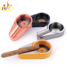 JIJU Tobacco Cigar Ashtray Cohiba Mini Cigarette Portable Ashtray Multi-Color Optional Metal Ashtray For Cigar JL-221S(China)