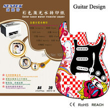 Guitar Waterslide Decals 10 Sheets Water Transfer Printing Papel Print By Laser Printer Water Slide Decal Paper