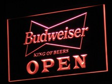 a113 OPEN Budweiser Beer NR Pub Bar LED Neon Sign with On/Off Switch 20+ Colors 5 Sizes to choose(China)