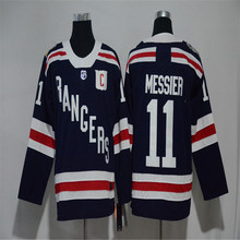Mens Mark Messier Embroidered Throwback Hockey Jersey Size M-3XL(China)