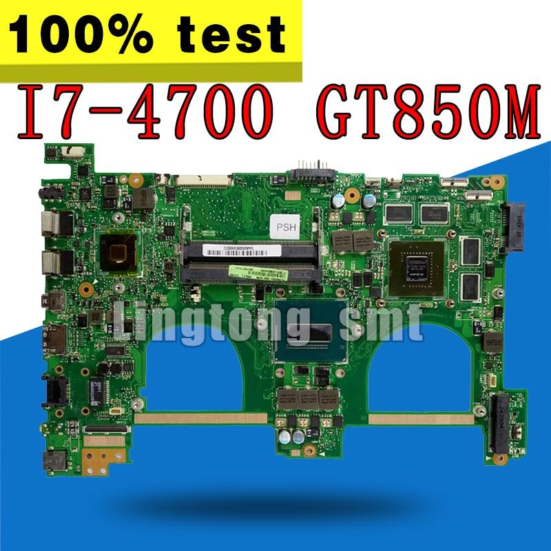 For Asus G550JK N550JK N550JV G550JV G550JX Mainboard W// i7-4700HQ GT850M V4G