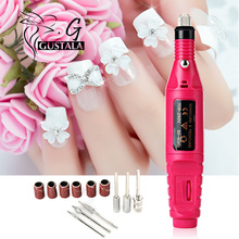 Gustala 1set 6bits 20000rpm Professional Electric Manicure Machine Nail Grinding Pen Pedicure File Polish Shape Tool Feet Care(China)