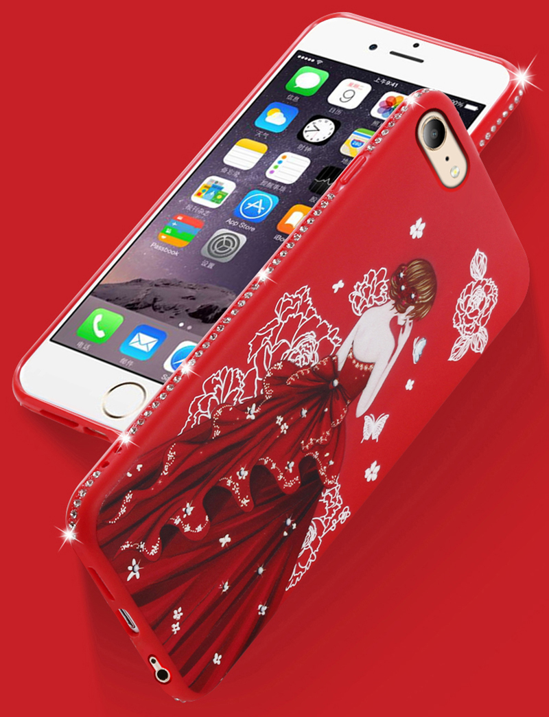 dress girl silicone case iphone 6 s 7 8 plus (10)