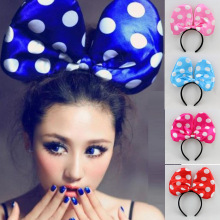 2016 New Party Supplies Lighted Oversized Bow Tie Headband Hair Accessories Big Bow  Kids Christmas Decorations Cosplay12pcs/LOT