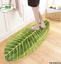 2017 Tapete Southeast Asian Style Banana Leaf Pattern For Carpet Coffee Table Mats Ottomans Absorbent Bed Big Non-slip