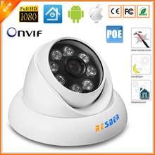 48v PoE HD 720P 960P Full HD 1080P 25fps Security Camera IP 8pcs Array LED Anti-Vandal Indoor Outdoor IP Camera(China)