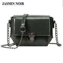 Summer 2017 New Women Chains Cross Body Bag Retro Vintage Small Female Messenger Bag Cheap Pu Leather Over Shoulder Bag Designed