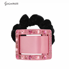 Luxury Beautiful Retail hair jewelry Square Acetate Cellulose Hair Accessories Wedding for Women Hair Rope Gifts free shipping