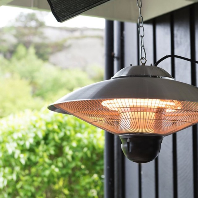 Electric Infrared Ceiling Heater With Remote Control Home Heaters Patio Warmer Double Clear Halogen Lamps Aluminum
