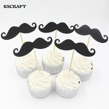 Buy KSCRAFT Little Man Black Moustache Cupcake toppers decoration Baby Shower Kids Birthday party favors Decoration Supplies for $2.08 in AliExpress store