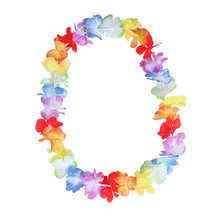 10PCS Hawaiian DIY Party Beach Flower leis Garland Necklace Fancy Dress Party Hawaii Beach Fun Flowers Decoration(China)