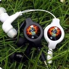 MLLSE Anime Naruto Hatake Kakashi Portable Earphone Retractable Wired Stereo In-ear Earbuds Earphones Music Headset For phone PC