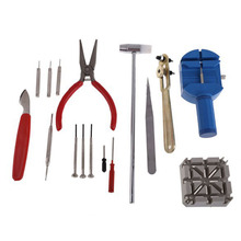 16PCS Watch Clock Opener Tool Kit Watch Repair Tool Cell Pin Remover Fixed Tools For Changing Batteries Bands on Watches