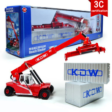 KAIDIWEI Reach Stacker Container Front Trolley Engineering Vehicle 1:50 Scale  Diecast Alloy Metal Car Model Collect Kids Toy