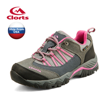 (Shipped From USA Warehouse)2017 Clorts Womens Walking Shoes Waterproof Outdoor Shoes Cow Suede For Famale HKL-831C/D