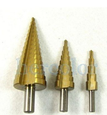 3 piece HSS Steel 12/20/32MM Step Drill Bit Tool Set<br><br>Aliexpress