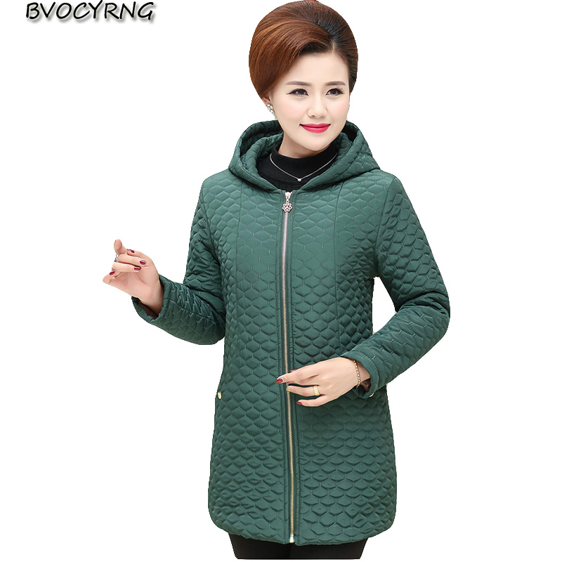 Plus Size Winter Hooded Outerwear Middle-Aged And Old Women high quality Add wool Thickening Coat Medium-long Jacket Parka Q883Îäåæäà è àêñåññóàðû<br><br>