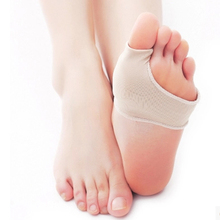 2pcs/pair Toe correctorFoot Care Tool , Stretch Nylon Hallux Valgus Guard Cushion Bunion Toe Separator Thumb valgus protector(China)