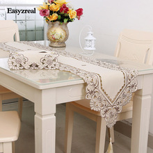 China Style Embroidery Table Flag Simple Elegant Grade Fashion Household Tablecloth Table Runner Home wedding decoration