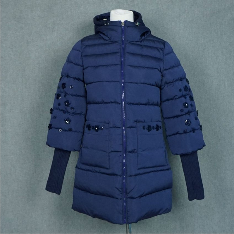 2017 New Winter Jacket Women short Hooded Cotton Padded female Parka diamonds hot sale high quality ZL432Îäåæäà è àêñåññóàðû<br><br>