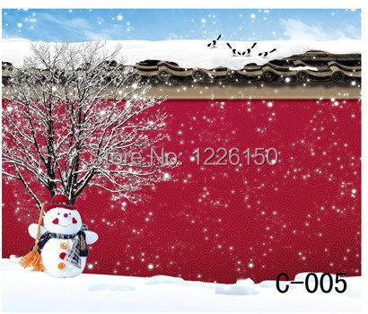 Free digital  winter vinyl Backdrops, children christmas photography C-005,10x10ft Wedding Photo Backdrops<br>