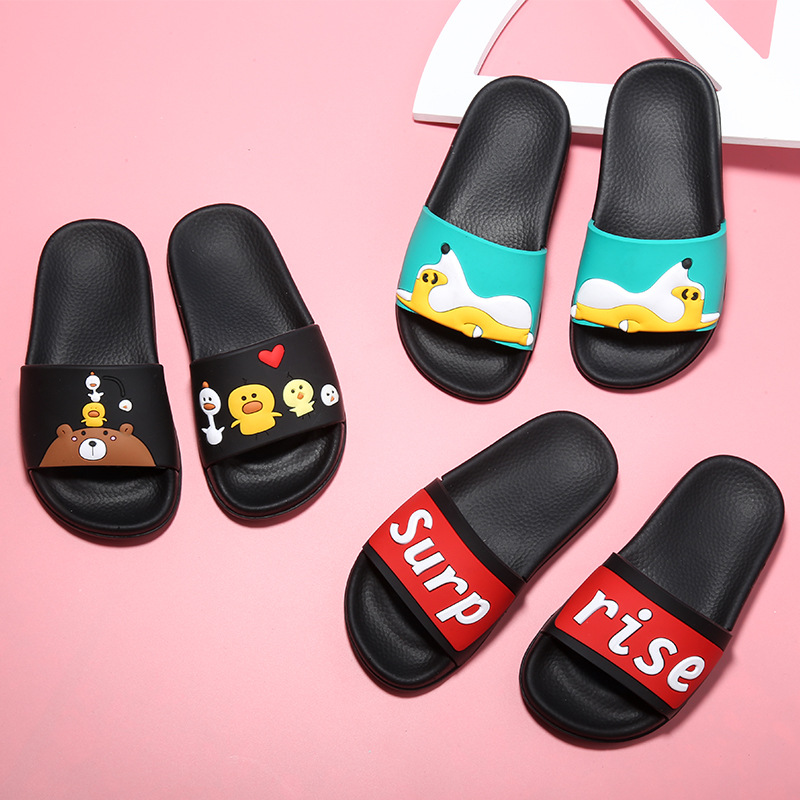 2017 Summer Children Slippers Cartoon Letter Kids Slippers Princess beach Sandals Girls Slippers Casual Soft sole Home Shoes
