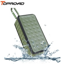 TOPROAD HIFI Portable Wireless Bluetooth Speaker Waterproof IPX6 Stereo Speakers Outdoor Altavoz Support FM Radio TF USB Driver(China)