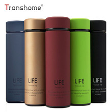 Transhome Thermos Water Bottle 350ml High Quality Stainless Steel Vacuum Flask Thermal Cup Coffee Thermos Travel Mug Thermoses(China)