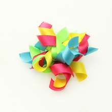 Armi store Handmade 6027008 Party Seven Colored Pet First Flowers Ribbon Dog Bow Wholesale(China)