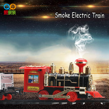 Children Toys Electric Rail Car Kids Train Track Model Slot with Light Whistle Sound Smoke Baby Toys for children Birthday Gift