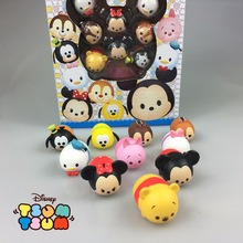 Disney Tsum Tsum 10pcs/Lot 3.8cm With Box Cute Mini Donald Mickey Winnie Toys Cute Tsum Tsum For Xmas Children Gift Juguetes