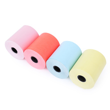 MEMOBIRD Color thermal printing paper 57 * 50 thermal paper Bill receipt paper 4 rolls Free postage(China)
