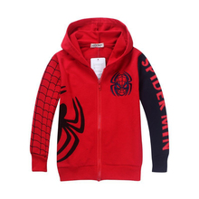 1pc Retail 2016 Spring Autumn Children's Coat boys Spiderman hoodie jackets Kids cartoon Clothes baby outerwear free shipping
