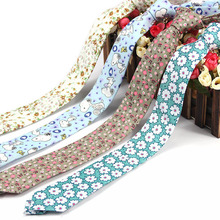 6cm Fashion casual skinny cotton floral tie slim classical wedding business party narrow mens suit ties Cartoon dog bear Tie