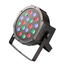 LED Stage Lights 18W RGB LED DMX Stage Lighting Effect 7 Channels DMX512 Led Flat for Party DJ Disco Bar Club