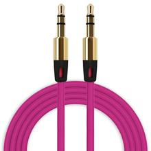 3.5mm Auxiliary Audio Cable Male To Male Flat Aux Cables for All Phones/MP3/iPod/iPhone /PC May31