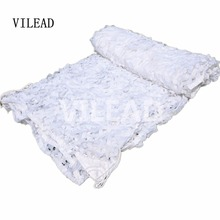 VILEAD 2M x 7M (6.5FT x 23FT) Military Camouflage Net White Army Digital Camo Netting Sun Shelter for Car Covers Hunting Camping(China)