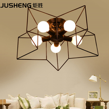 Simple and creative five - pointed star light modern personality bedroom ceiling lamp living room dining room lamps(China)
