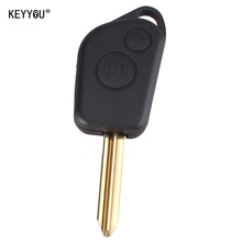 KEYYOU New Replacement Entry Key Remote Fob Shell Case Uncut Blade For Citroen Elysee Saxo Xsara Picasso Berlingo Key Case