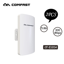 COMFAST mini wireless bridge outdoor CPE wifi router repeater 5.8ghz 300mbps for ip camera project 1-2km long range amplifier(China)