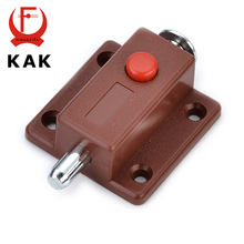 KAK-7019 Automatic Furniture Bolt Door Window Cabinet Box Latch 53*35mm Drawer Cupboard Spring Lock Home Hardware(China)
